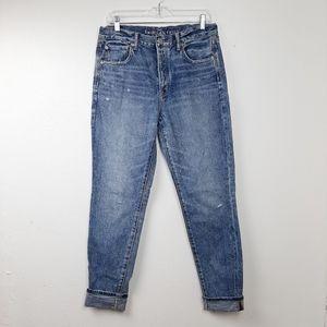 American Eagle Hi Rise Girlfriend Jeans 8 Long